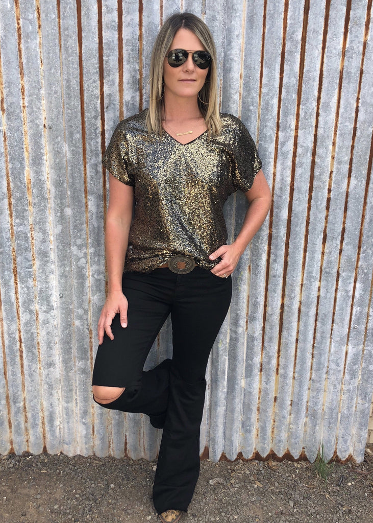 Jameson Sequin Top