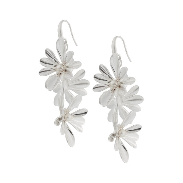Sence Copenhagen H/W 2020 Couture Earrings Pearl White Matt Silver Ohrringe SENCE Copenhagen