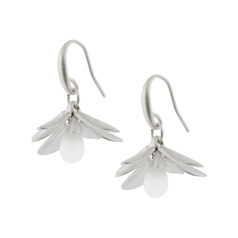Sence Copenhagen H/W 2020 Couture Earrings White Jade Matt Silver Ohrringe SENCE Copenhagen
