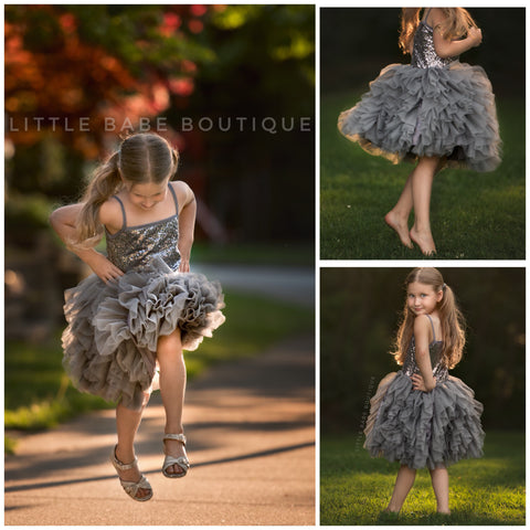 The Pixie Princess Dress- Gold or Grey