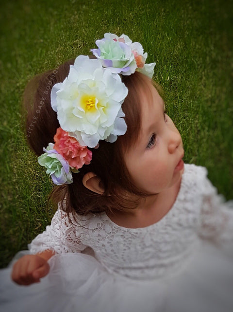 Adjustable Flower Crown Head Wreath- multiple color options