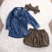 The Denim & Leopard Princess- 3 piece set