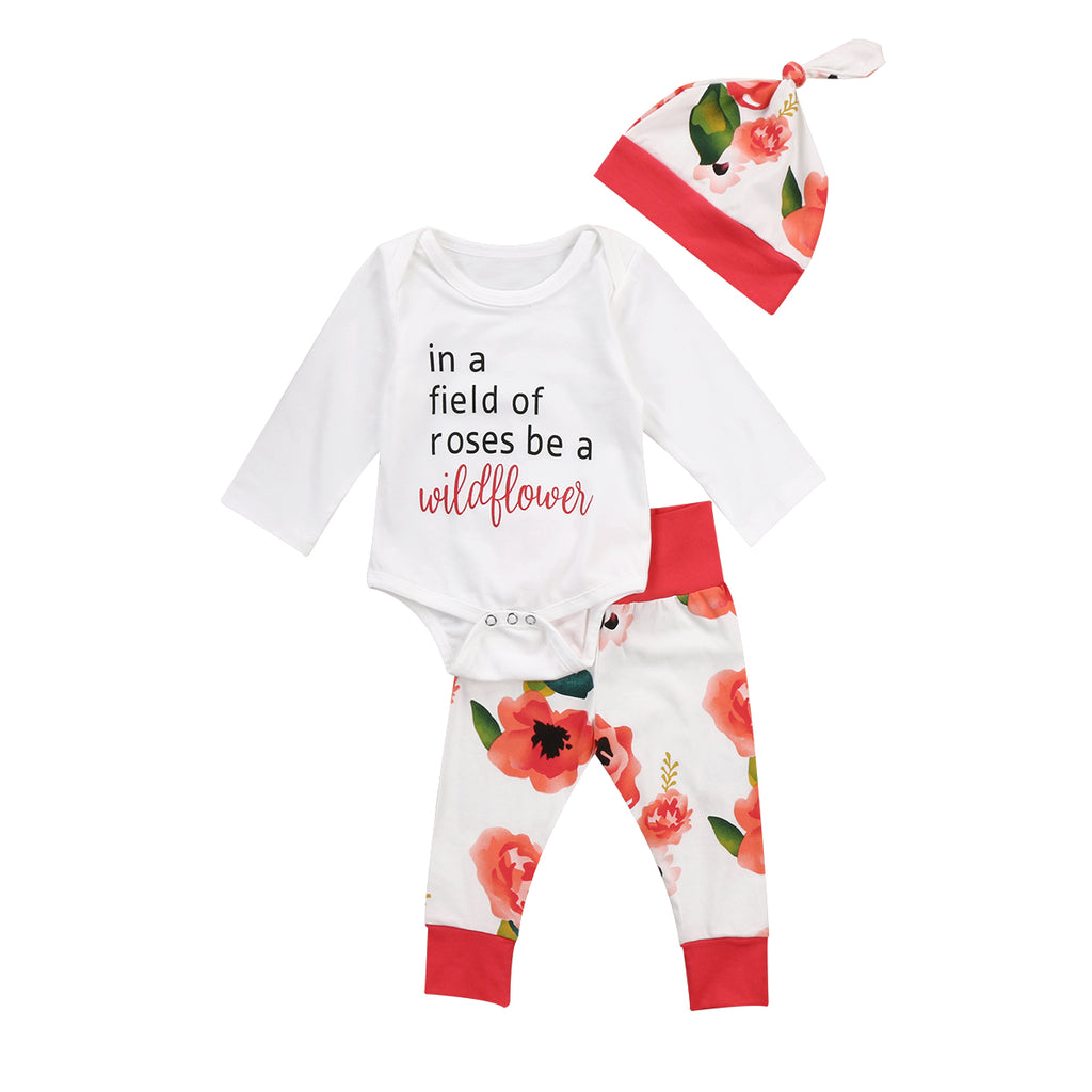 In A Field Of Roses...Be A Wildflower- 3 pc set
