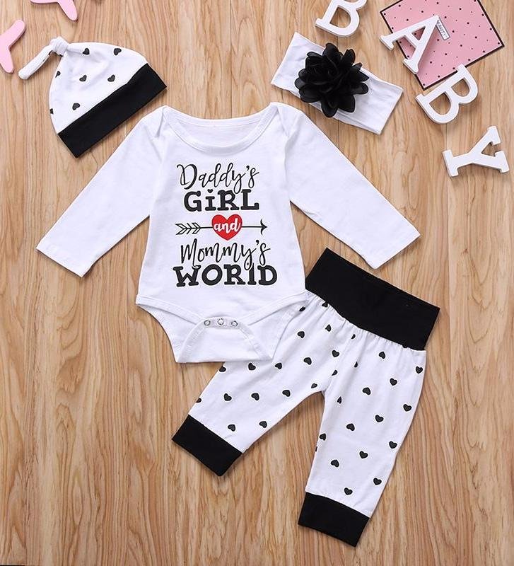 Daddy's Girl & Mommy's World- 4 piece set