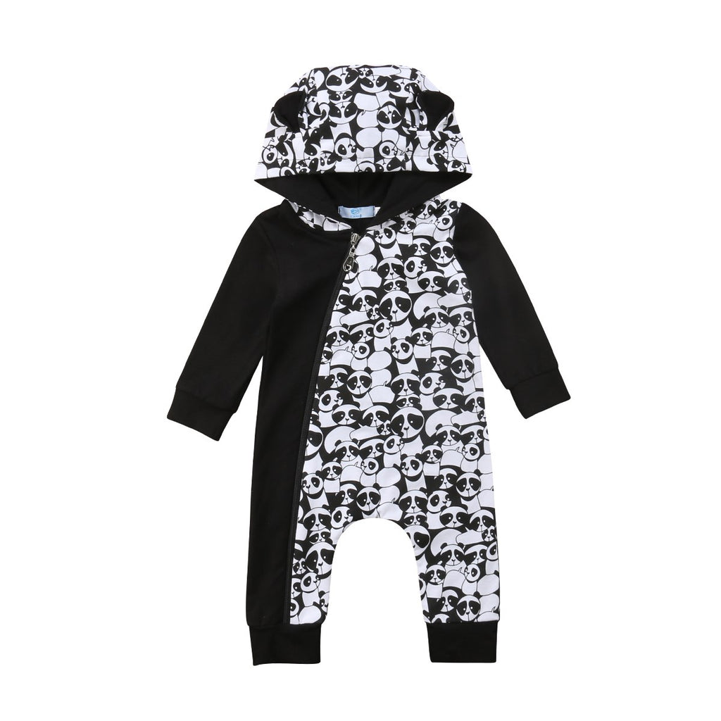 Beary Cute Panda Hooded Romper
