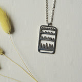 mountain amulet necklace (silver)