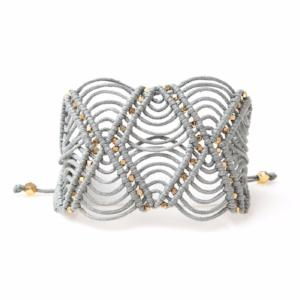 hand-knotted cord cuff