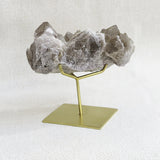 smokey quartz cluster with stand