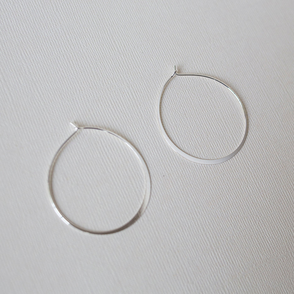 hammered hoops - SOLD OUT