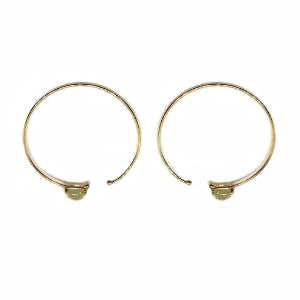 glass  / gold hoops
