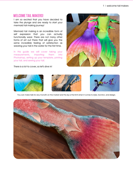 Printed Fabric Mermaid Tails Bundle
