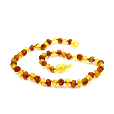 Children's Baltic Amber Nutmeg & Lemondrop Necklace with Pop Clasp