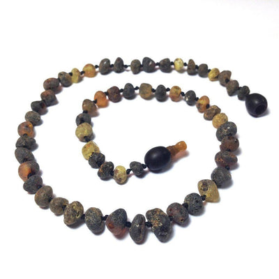Children's Baltic Amber Asteroid Necklace with Pop Clasp