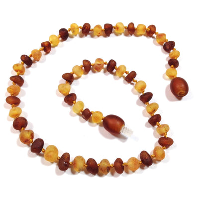 Children's Baltic Amber Nutmeg & Lemondrop Necklace with Twist Clasp