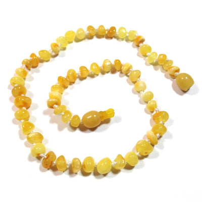 Children's Baltic Amber Milk & Butter Teething Necklace with Pop Clasp