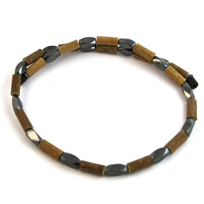 Hazelwood Twist Hematite Magnet Necklace