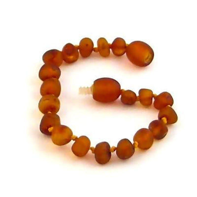 Children's Baltic Amber Nutmeg Anklet with Twist Clasp