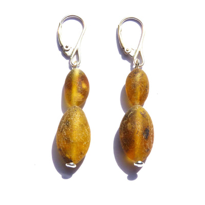 Baltic Amber Asteroid Earrings