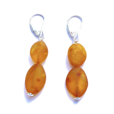Baltic Amber Caramel Earrings