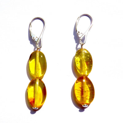 Baltic Amber Honey Earrings