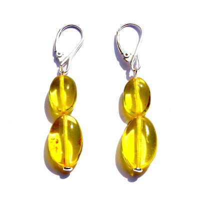 Baltic Amber Lemon Earrings