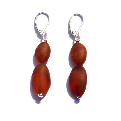 Raw Baltic Amber Nutmeg Earrings