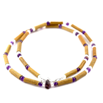 Hazelwood Amethyst & White Quartz Gemstone Necklace