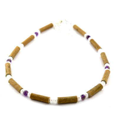 Hazelwood Amethyst & White Quartz Gemstone Anklet