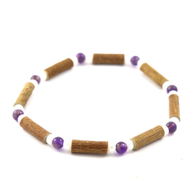 Hazelwood Amethyst & White Quartz Gemstone Bracelet