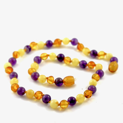 Amber-Gemstone Honey, Butter, & Amethyst