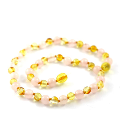 Amber-Gemstone Lemon & Rose Quartz