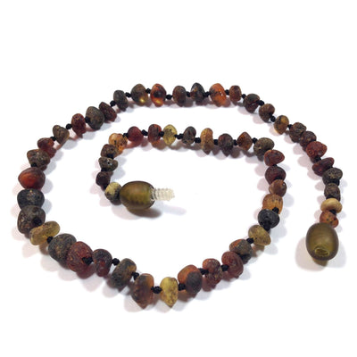 Children's Baltic Amber Asteroid Necklace with Twist Clasp