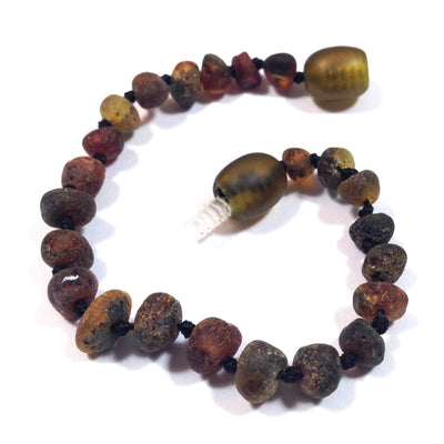 Children's Baltic Amber Asteroid Anklet with Twist Clasp