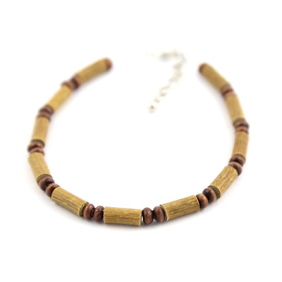 All Brown Hazelwood Anklet