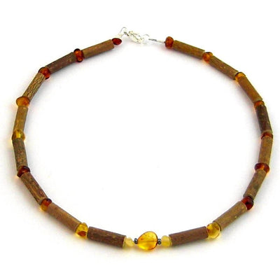 Children's Hazelwood & Baltic Amber Honey Necklace