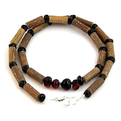 Hazelwood & Baltic Amber Dark Cherry Necklace