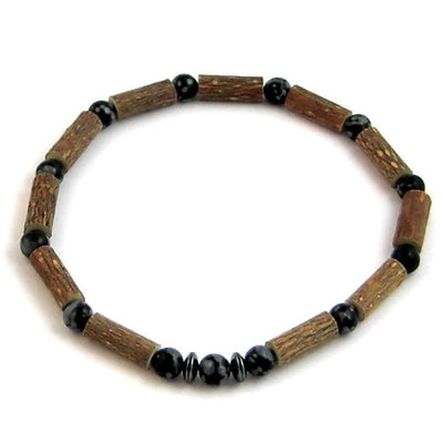 Hazelwood Black Obsidian Gemstone Bracelet
