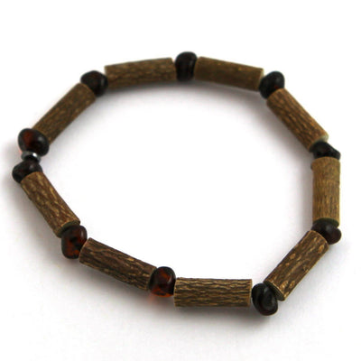Hazelwood & Baltic Amber Dark Cherry Bracelet