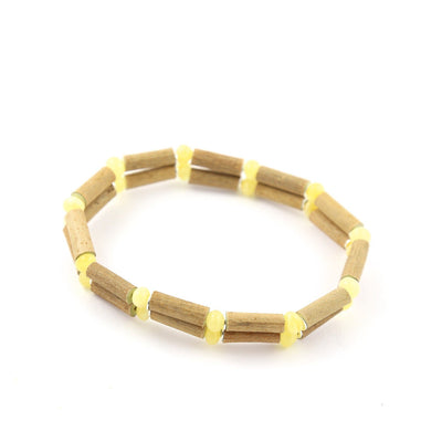 Hazelwood & Baltic Amber Milk & Butter Double Bracelet