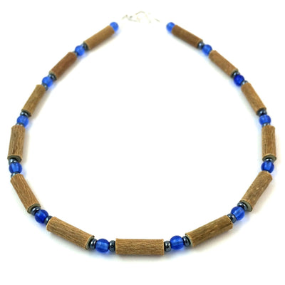 Hazelwood Blue & Hematite Necklace