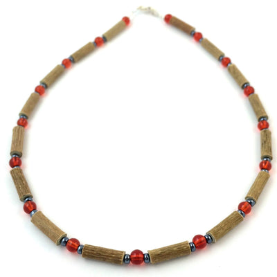Hazelwood Red & Hematite Necklace
