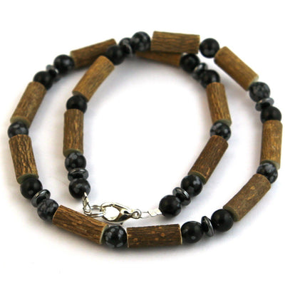 Hazelwood Black Obsidian Gemstone Necklace