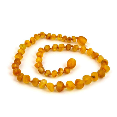 Children's Baltic Amber Caramel Necklace with Twist Clasp