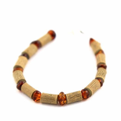 Children's Hazelwood & Baltic Amber Cognac Anklet
