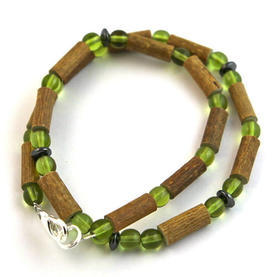 Hazelwood Green Peridot Gemstone Necklace