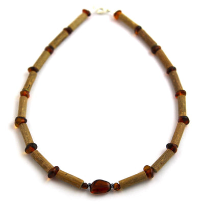 Children's Hazelwood & Baltic Amber Cognac Necklace