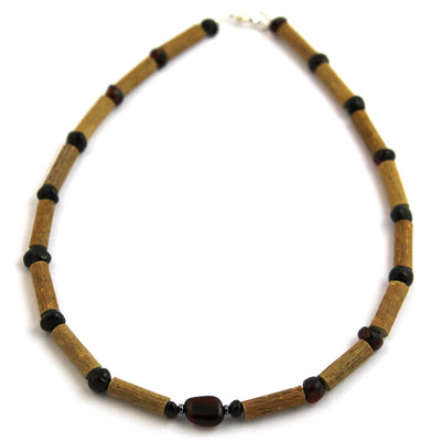 Children's Hazelwood & Dark Baltic Amber Necklace