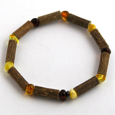 Hazelwood & Baltic Amber Multicolored Bracelet