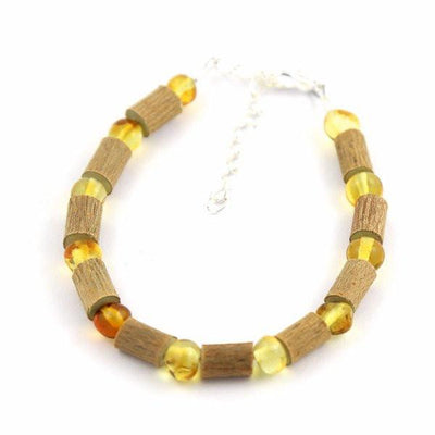 Children's Hazelwood & Baltic Amber Honey Anklet