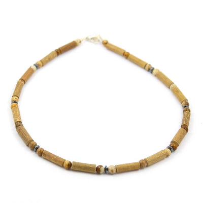 Hazelwood & Natural Jasper Gemstone Necklace